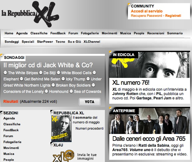 homepage XL x area765